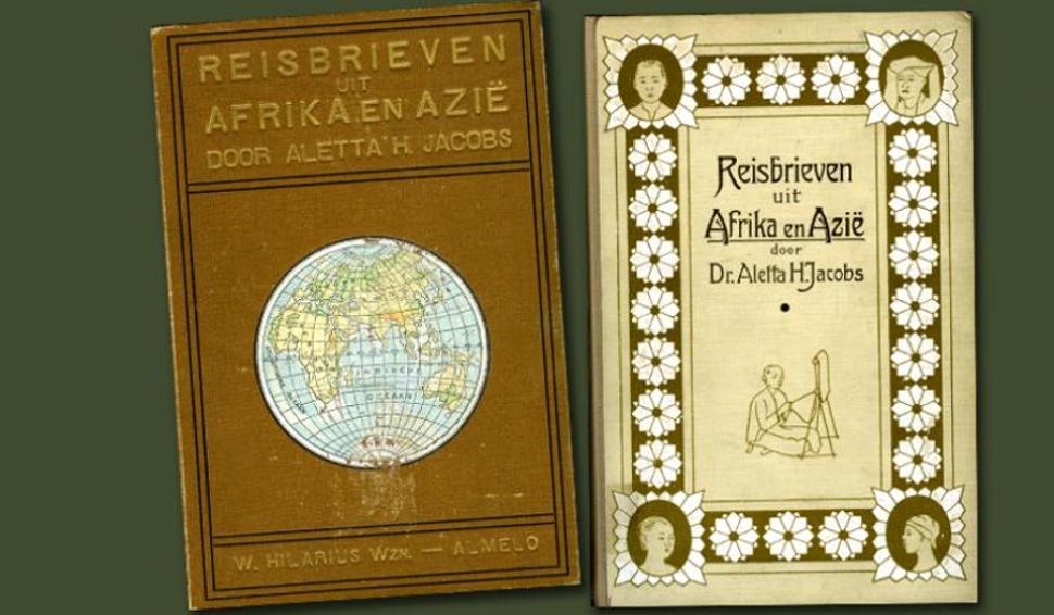 Ediciones de 1915 (izquierda) y 1913 del recopilatorio de cartas que Jacobs escribió durante sus viajes. Imagen: atria.nl