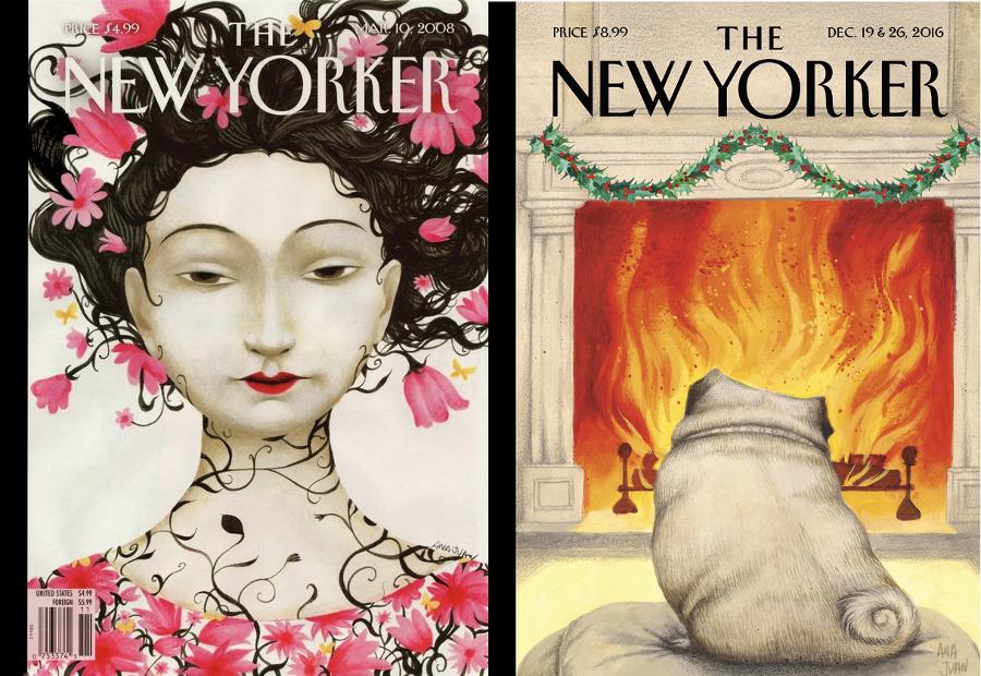 Portadas ilustradas por Ana Juan. Imagen: newyorker.com