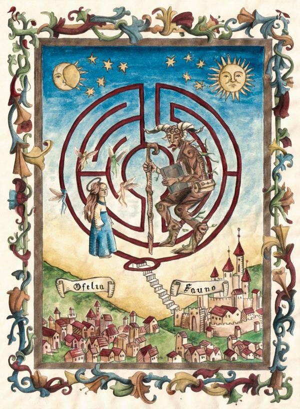 Ilustración para la película 'El laberinto del fauno'. Imagen: esthergili.com