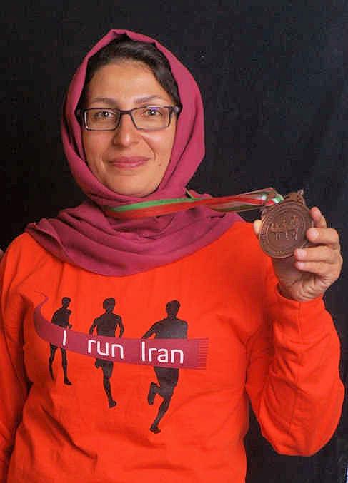 Una de las corredoras iraníes del año pasado. Foto: I run Iran