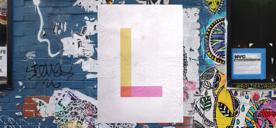 La bandera del Orgullo Gay se convierte en una bonita tipografía