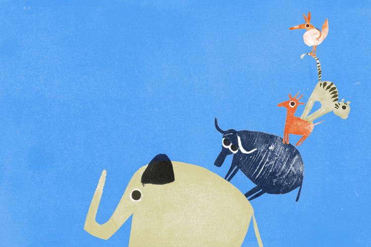 Ilustración del libro 'Bichos'. Edelbrá Editora (Brasil)