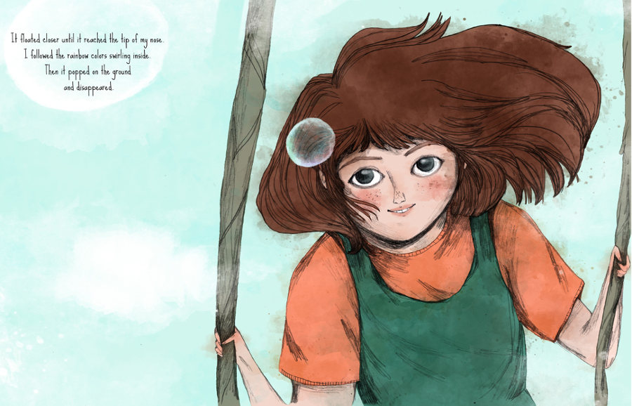 Ilustración del libro 'The bubble tree'