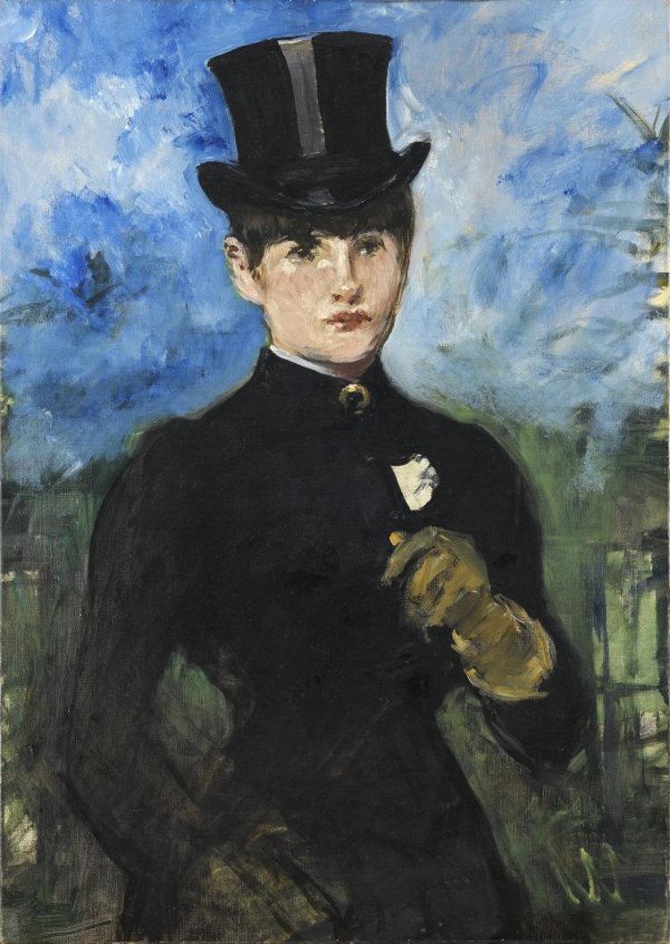 'Amazona de frente' de Édouard Manet. Imagen: Museo Thyssen-Bornemisza