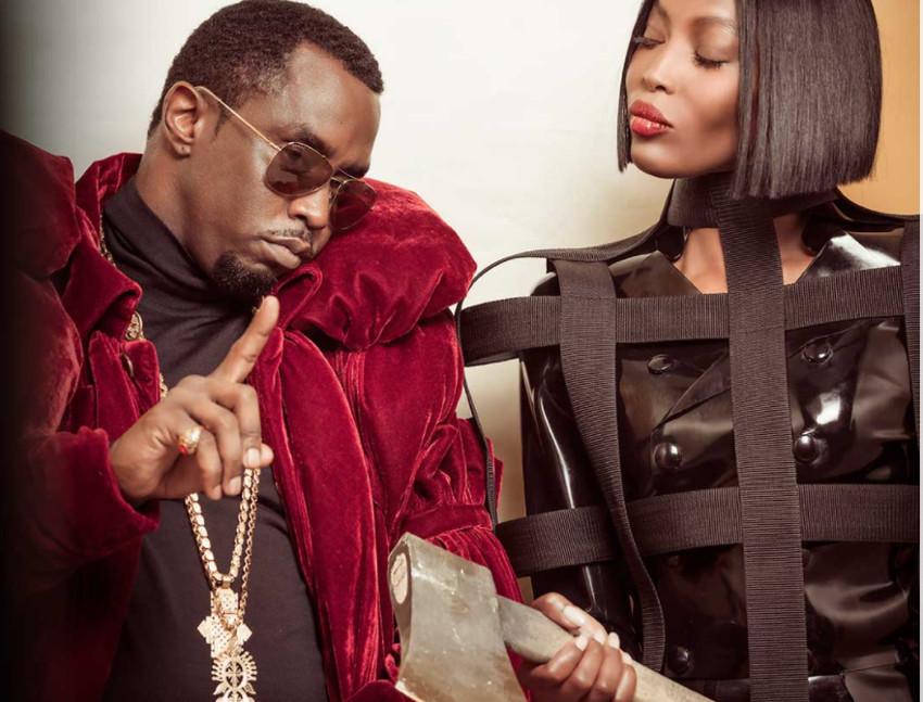 P Diddy y Naomi Campbell