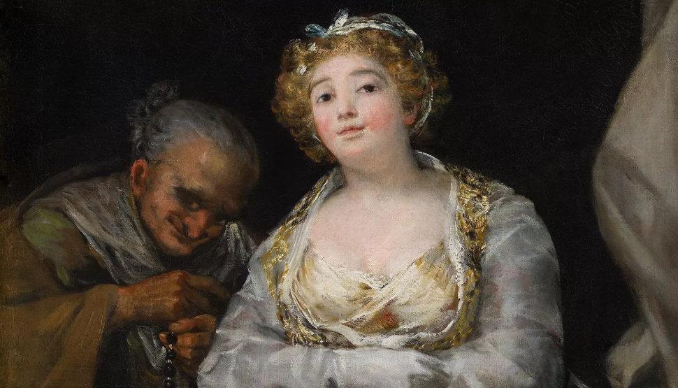 'Maja y celestina al balcón', de Francisco de Goya
