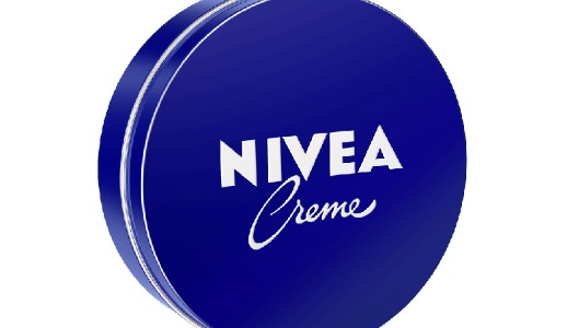 Una lata clásica de la crema Nivea