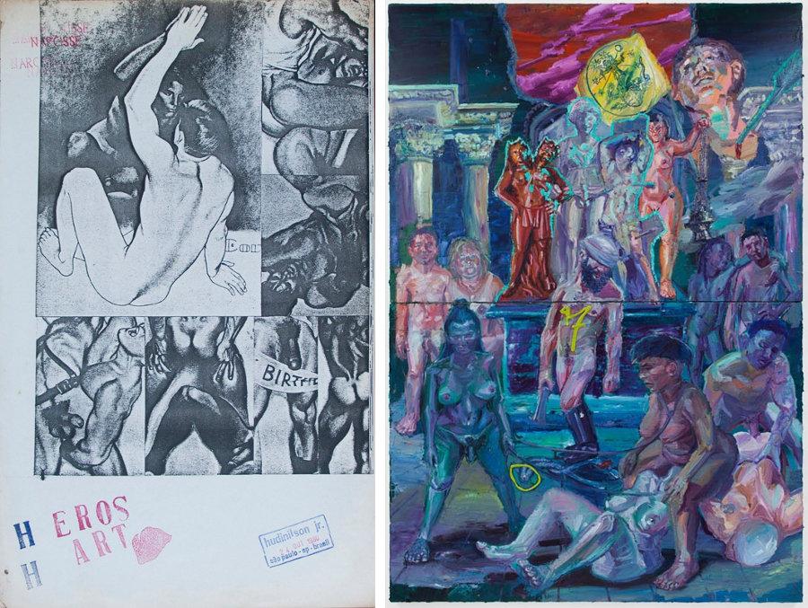 Algunas de las polémicas obras. Imágenes: Santander Cultural