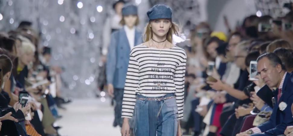 Dior lleva su mensaje feminista un paso más allá