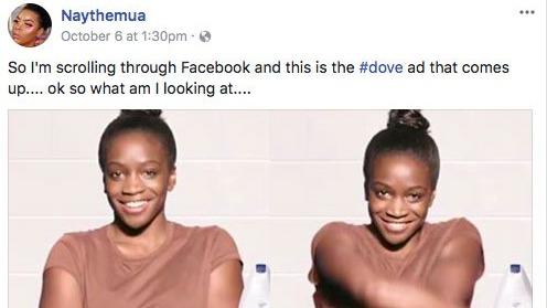 Dove Anuncio racista Facebook Octubre 2017 MKN