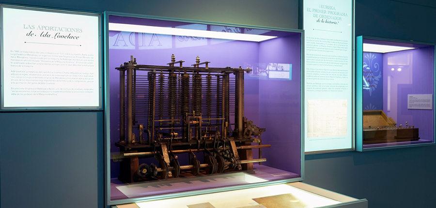 Reproducción del fragmento de la Máquina Analítica en la exposición de Fundación Telefónica
