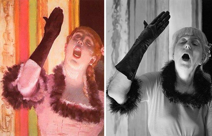 'Cantante con un guante', de Edgar Degas