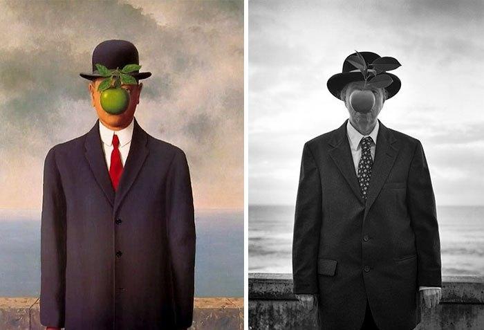 'El hijo del hombre', de René Magritte