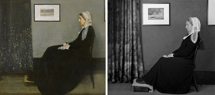 'Retrato de la madre del artista', de James Mcneill Whistler