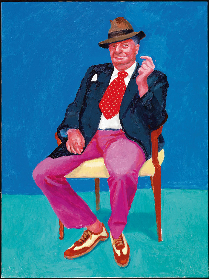 En 2015, el cómico australiano Barry Humphries hizo siete semanas de 'shows' en Los Angeles, lo que le dio la oportunidad de visitar a su amigo Hockney en varias ocasiones. Foto: Richard Schmidt