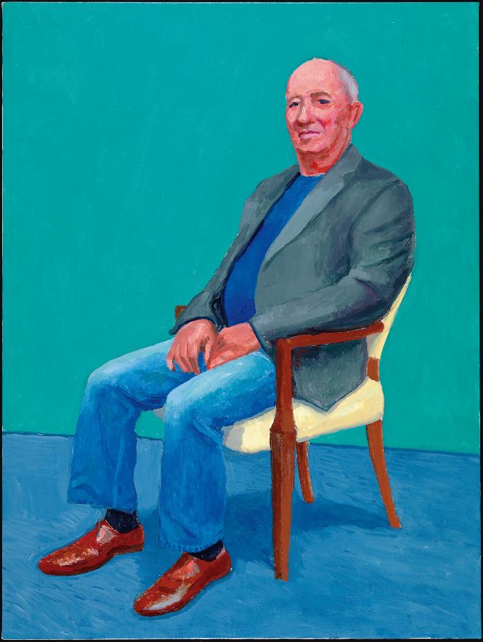 David Juda es el hijo del fallecido Annely Juda, fundador de la galería londinense que lleva su nombre y en la que Hockney ha expuesto desde los noventa. Foto: Richard Schmidt