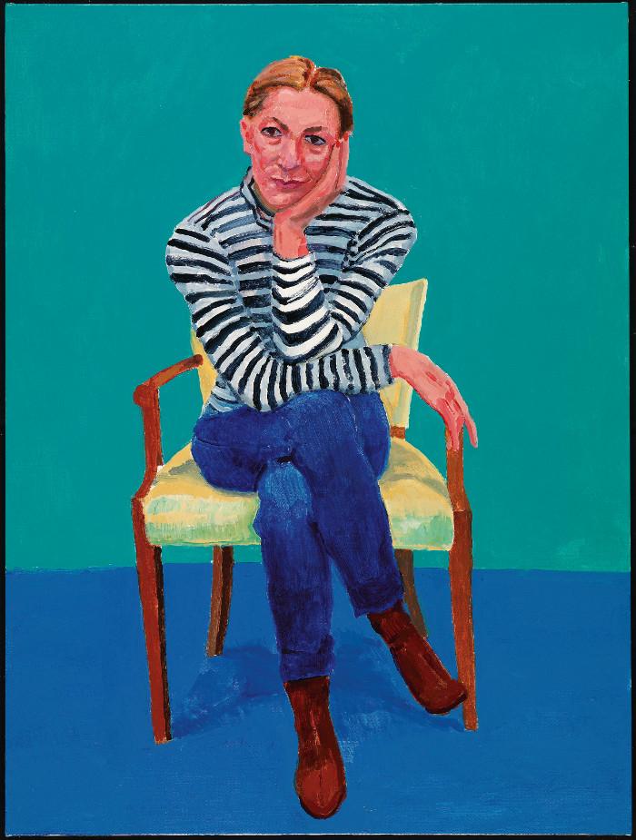 El artista pintó a Edith Devaney en dos ocasiones, primero en septiembre de 2015, y de nuevo en febrero de 2016. Este último cuadro es el que se ha incluido en la muestra. Foto: Richard Schmidt