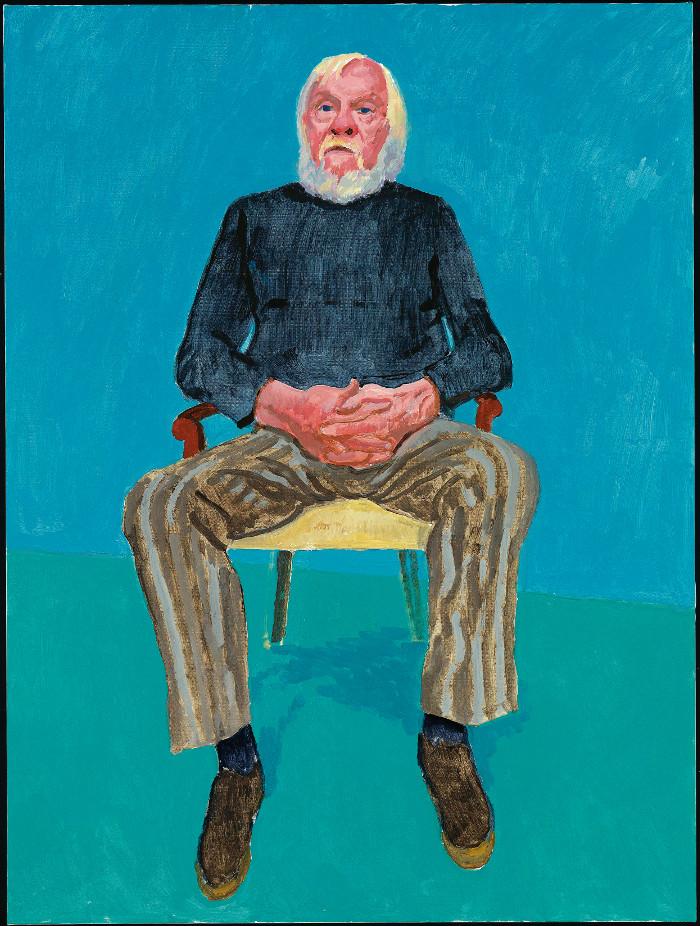 Hace tiempo que el artista conceptual John Baldessari, nacido y criado en California, es uno de los artistas contemporáneos más célebres de la Costa Oeste. Algunos años mayor que Hockney, ha sido amigo suyo durante varias décadas. Foto: Richard Schmidt