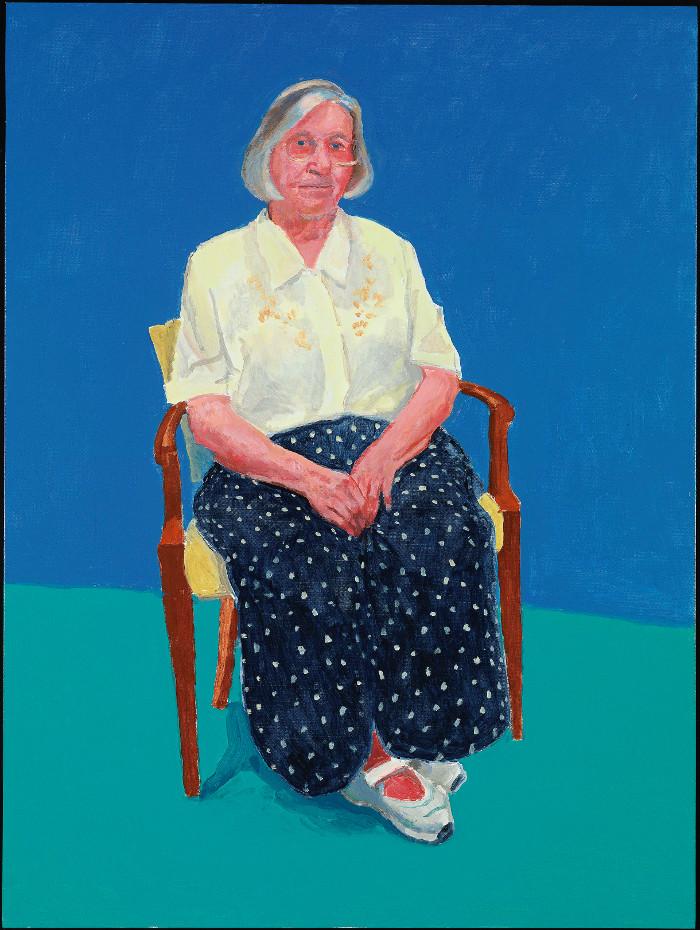 El artista está muy unido a sus cuatro hermanos, pero especialmente a una de ellos, Margaret, enfermera jubilada a la que ha dibujado en varias ocasiones. Foto: Richard Schmidt