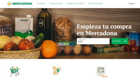 La web de Mercadona