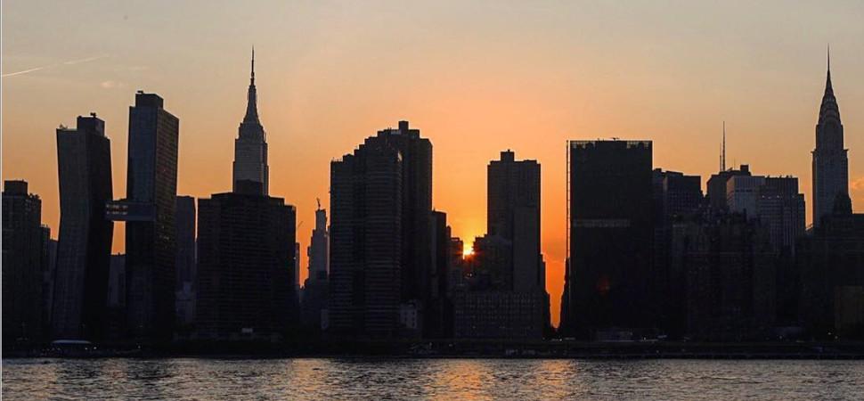 Las más espectaculares fotos del Manhattanhenge en Instagram