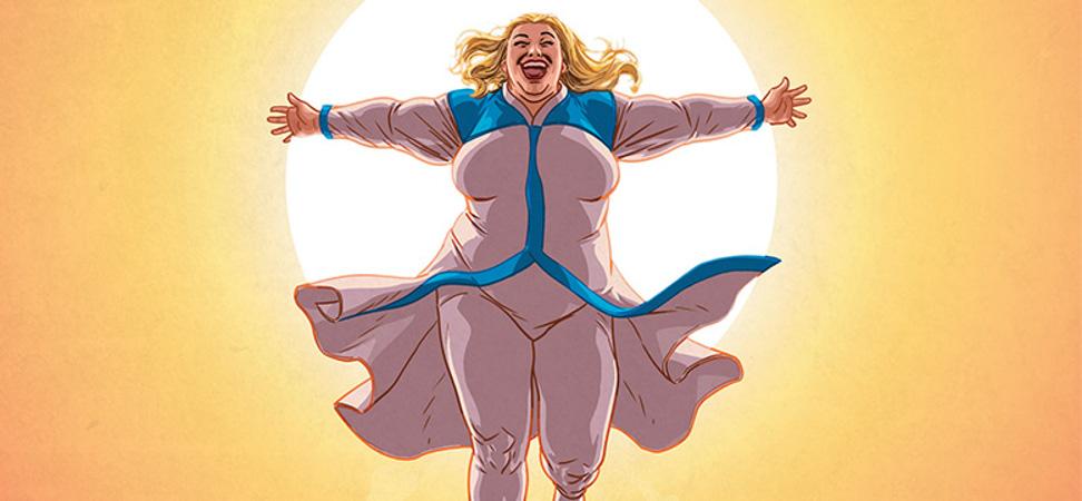 Faith, la superheroína talla XL, llega al cine