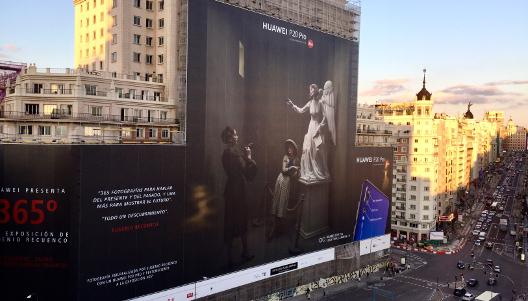 Campaña de exterior de Huawei de 2018