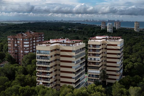 Gola de Pujol Nou, Parque Natural de la Albufera, Valencia. Urbanizaciones dentro del DPMT.