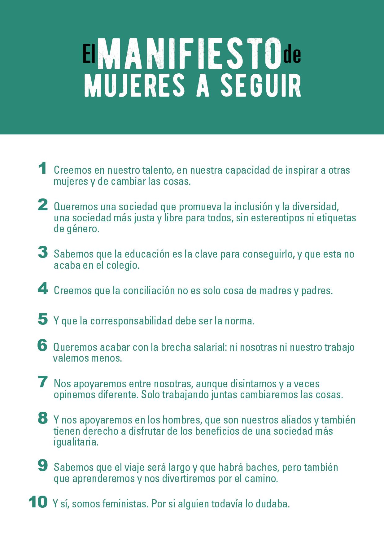 Manifiesto de Mujeres a Seguir